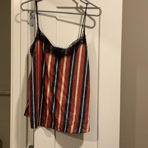 Zara Tops - Zara Sequin spaghetti strap top